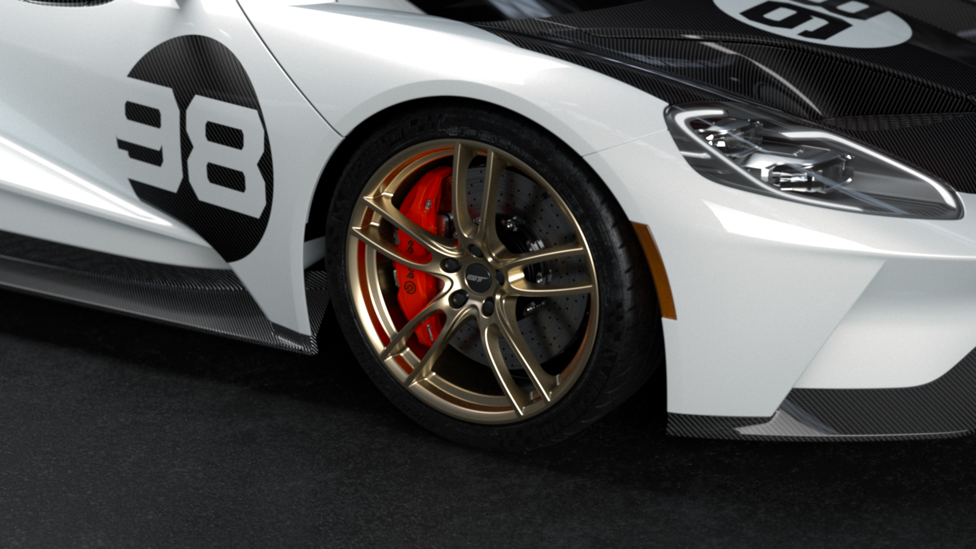 Ford GT Heritage Edition forged wheel