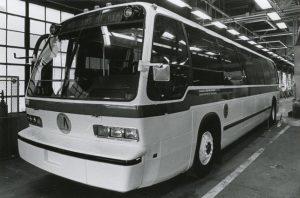 GMC RTS 004 bus front three-quarter