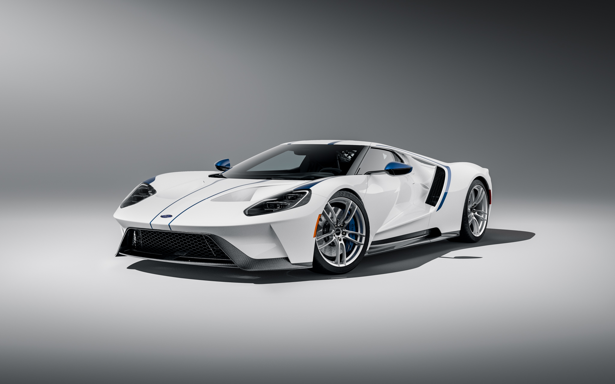 2021 Ford GT Studio Series front white