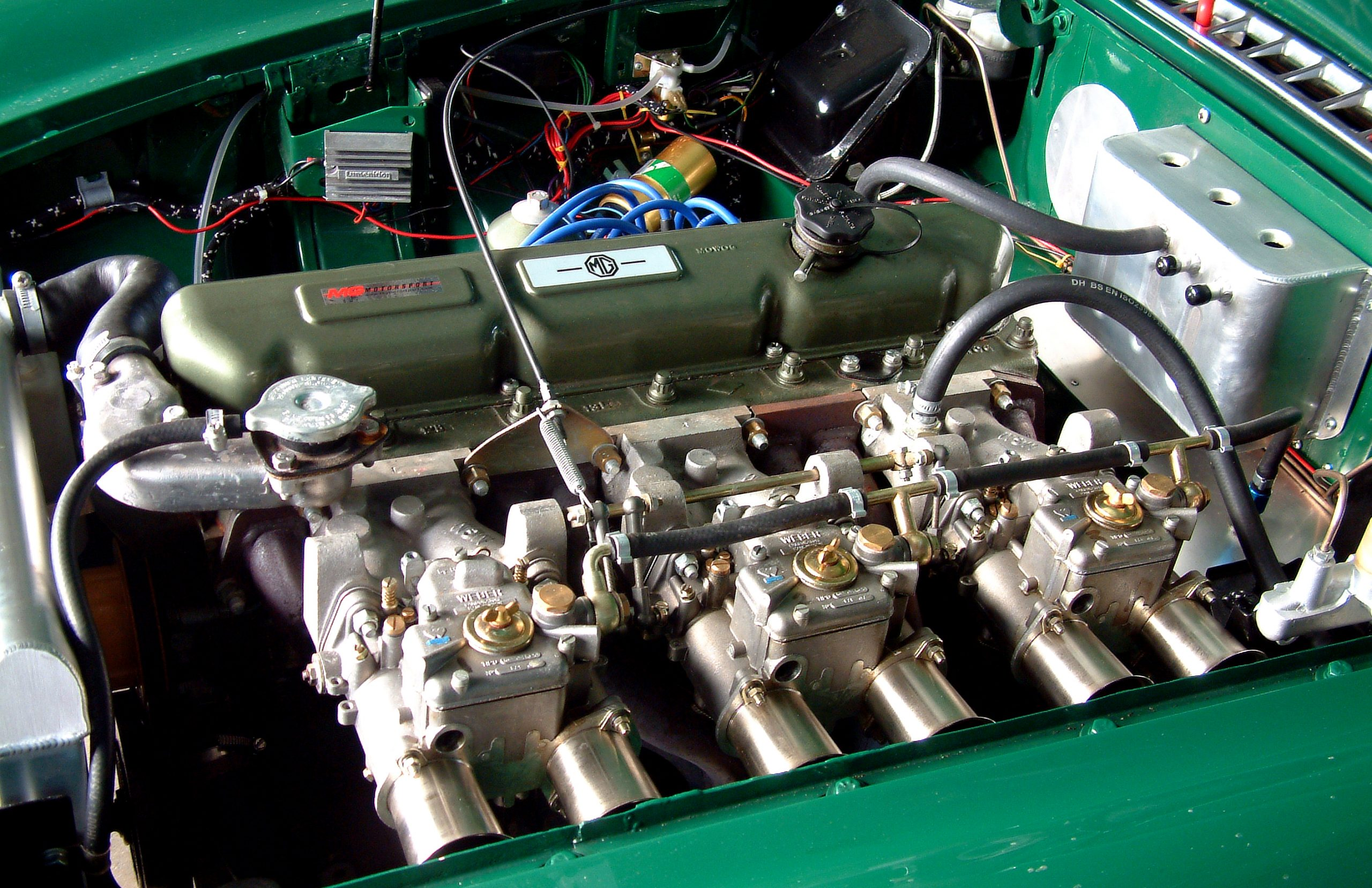 MGC-GT straight six engine weber carbs