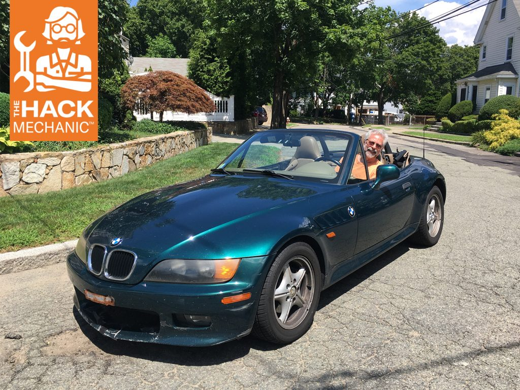 Rob Siegel driving BMW Z3 front three-quarter