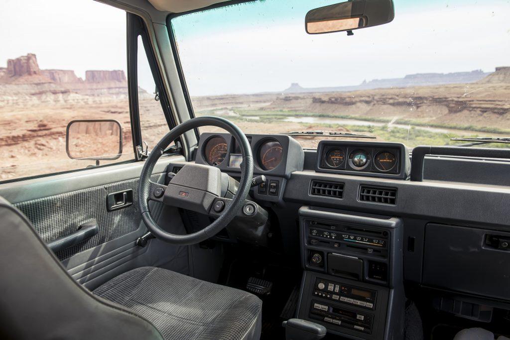 Mitsubishi Montero interior front moab utah canyonlands