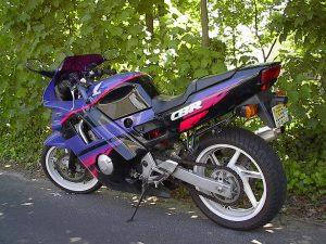 1992 Honda CBR 600 F2 motorcycle rear three-quarter