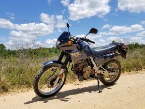 Honda NX650 Dominator motorbike front three-quarter
