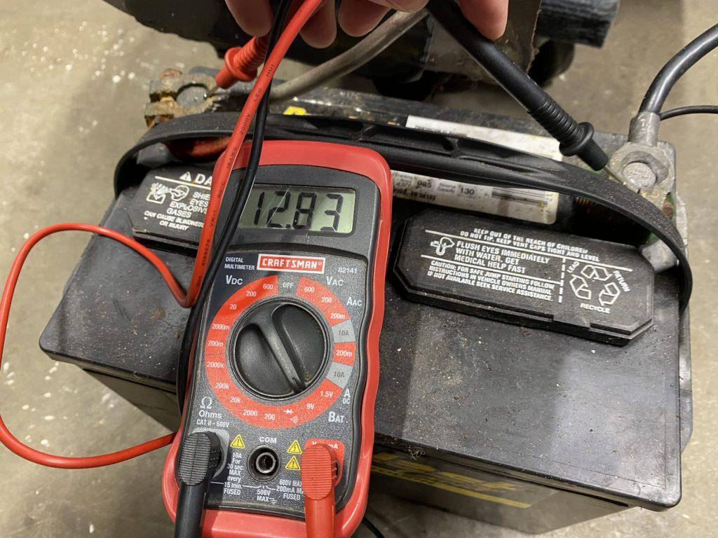 craftsman digital multimeter reading