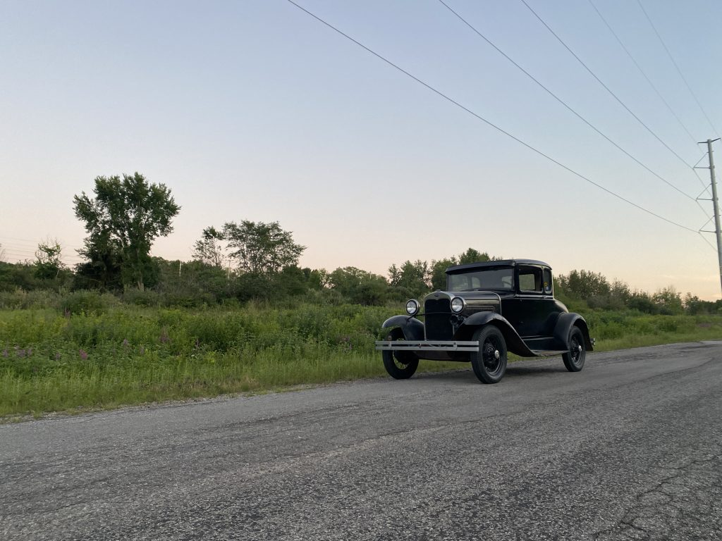 Ford Model A on road
