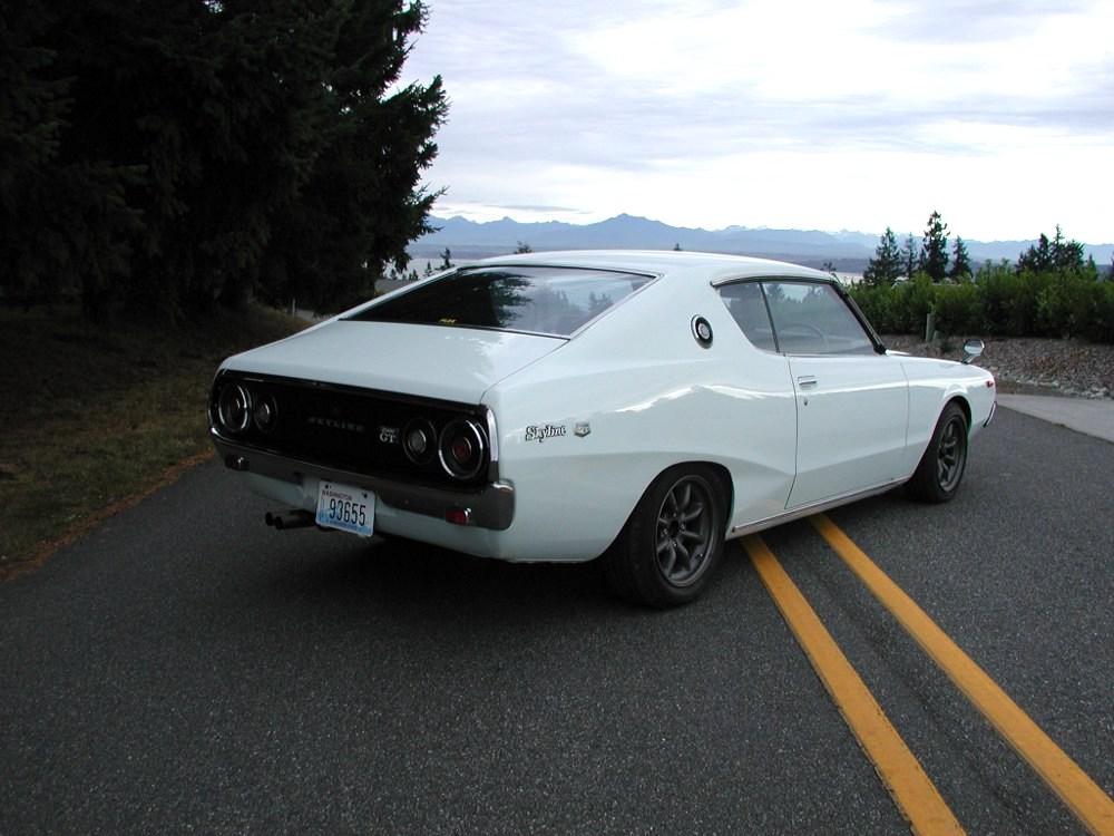 "DM story - Nissan Skyline ""kenmeri"" coupe - rear passenger side"