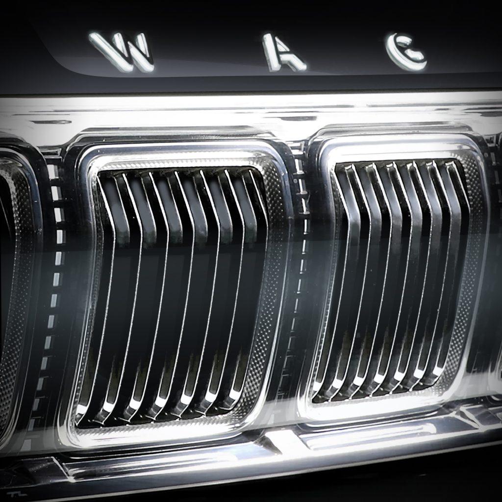 2022 Jeep Wagoneer front grille teaser