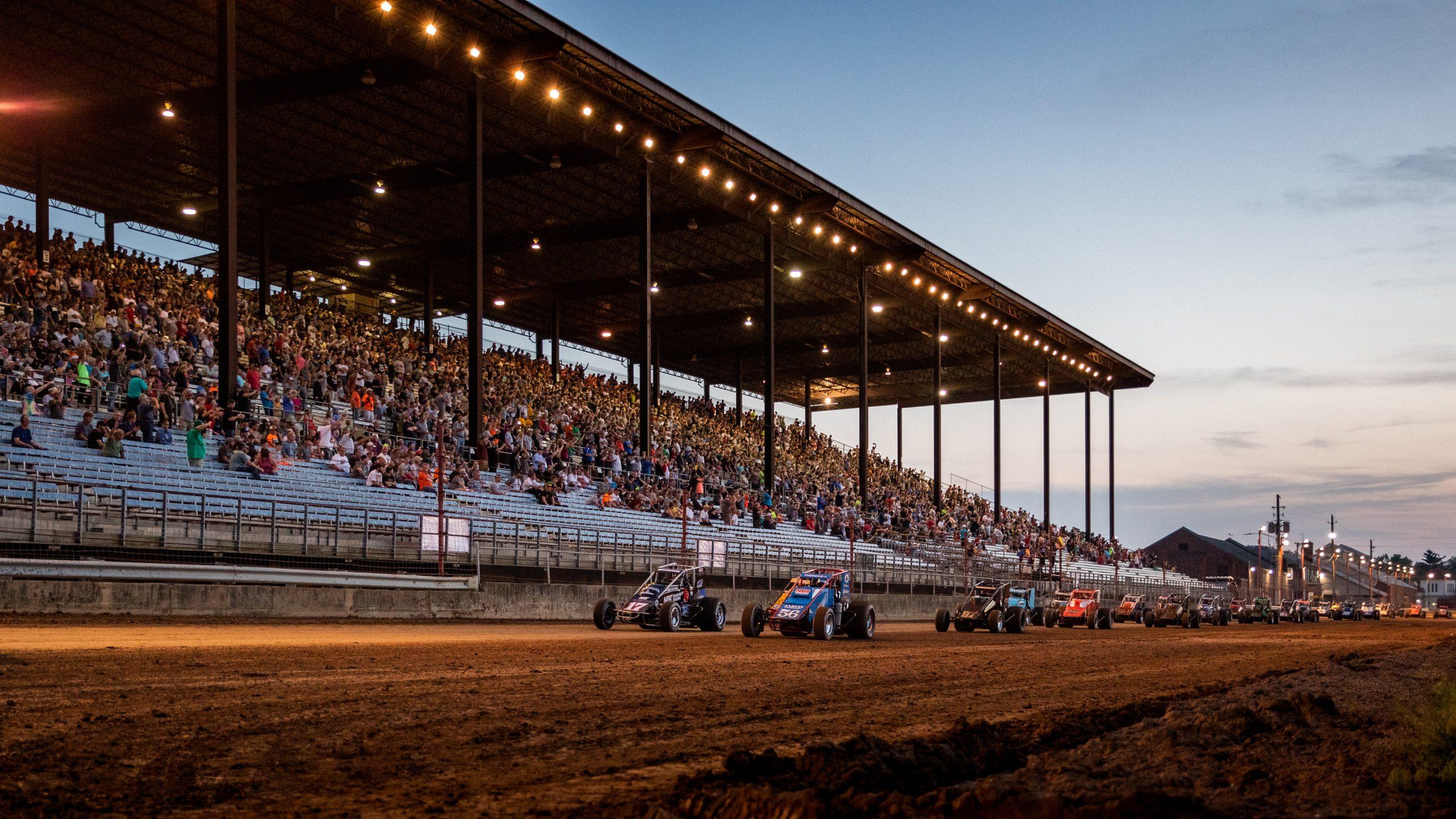 hoosier hundred dirt track dynamic racing action