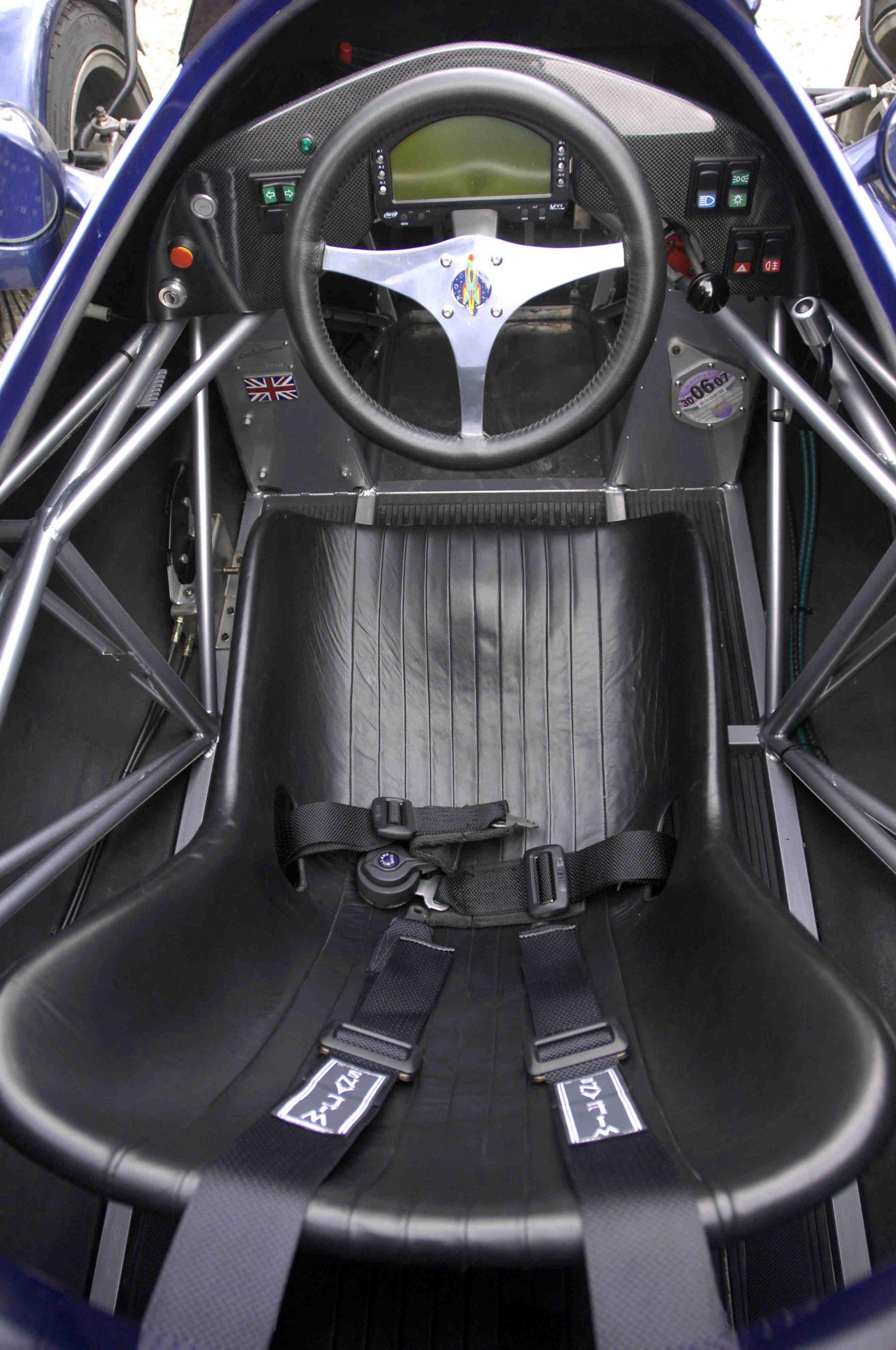 Rocket car cockpit overhead