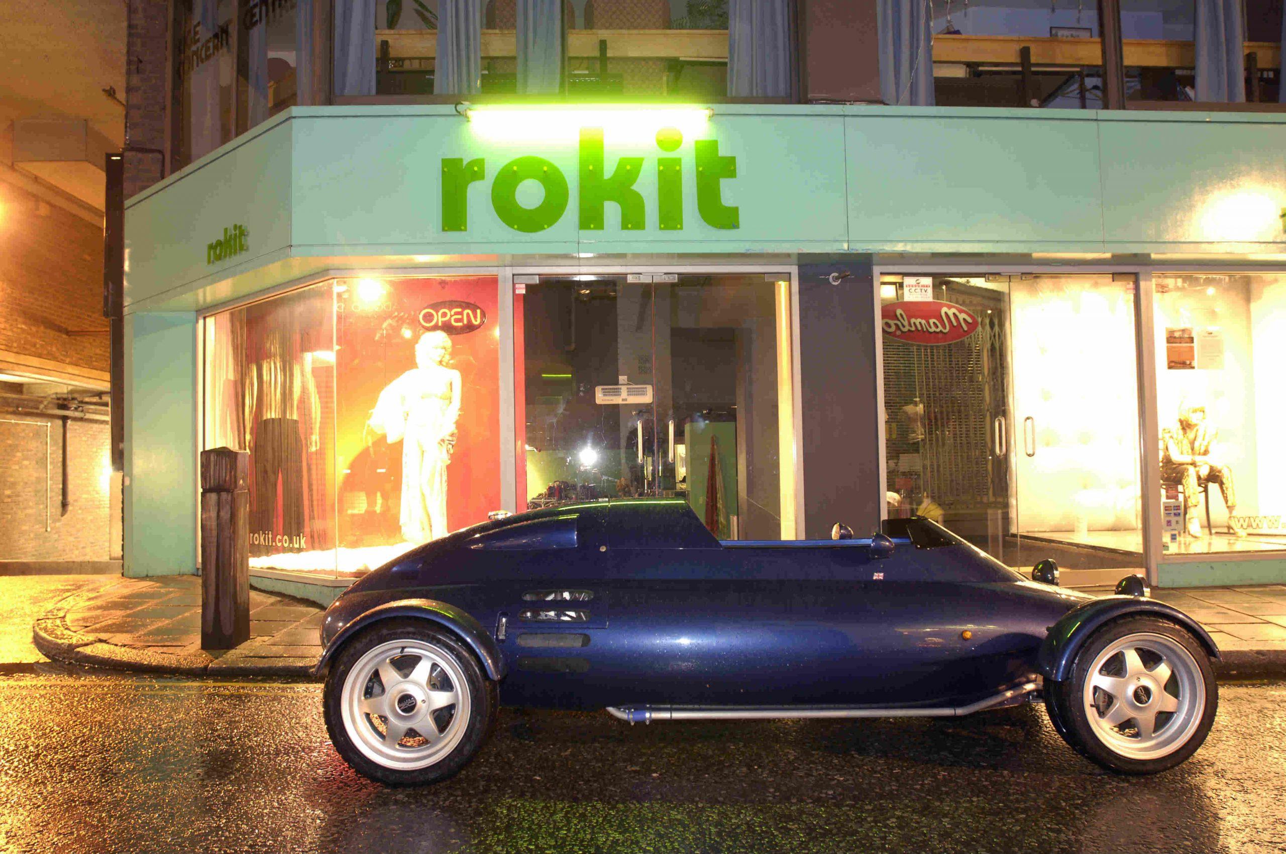 Rocket car side profile outside rokit store