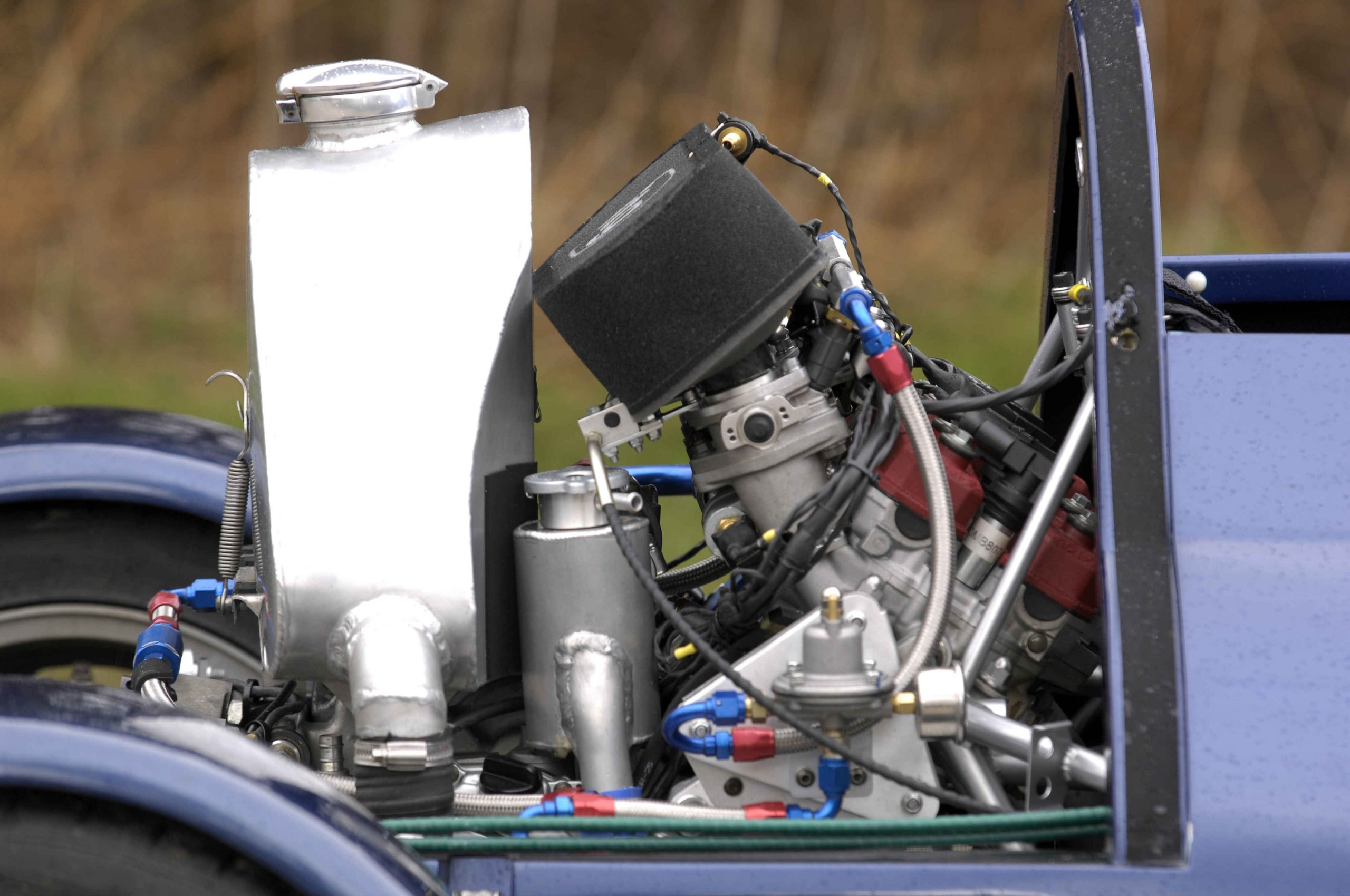 Rocket car engine side profile