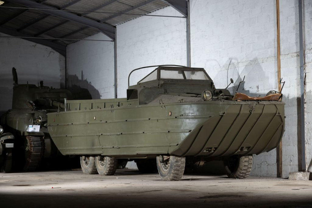 1943 GMC dukw duck boat front three-quarter