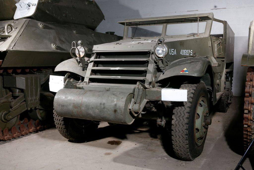 1943 White Half-Track Type M2A1F front three-quarter