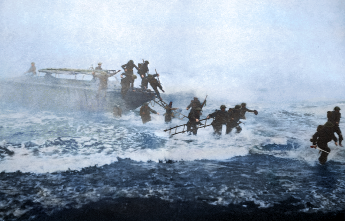 Mad Jack Storming Beach Colorized