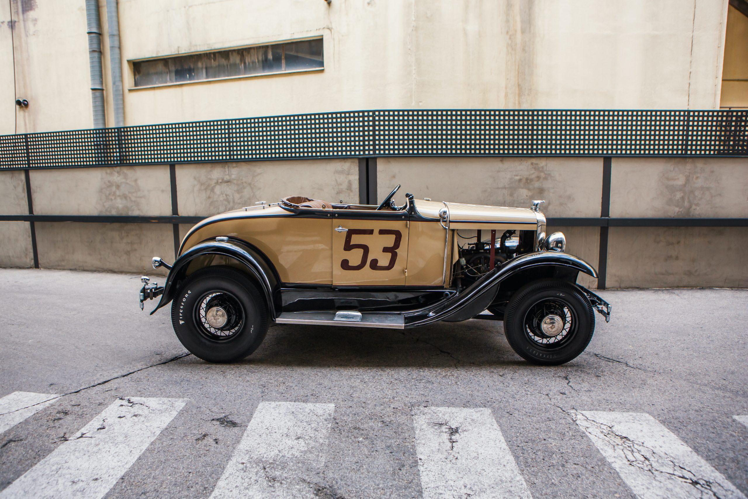 custom ford roadster side profile