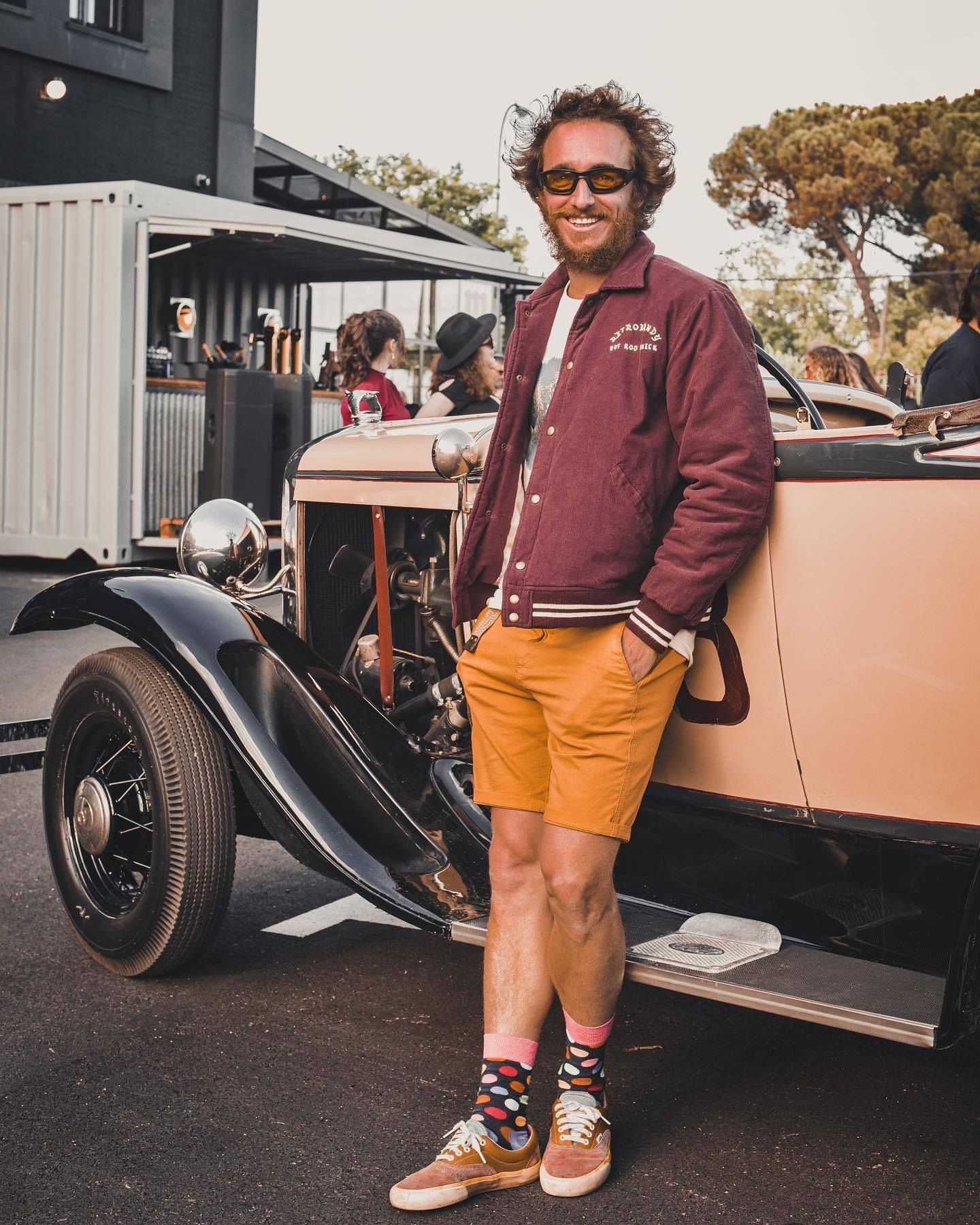 custom ford roadster and owner artist manu campa
