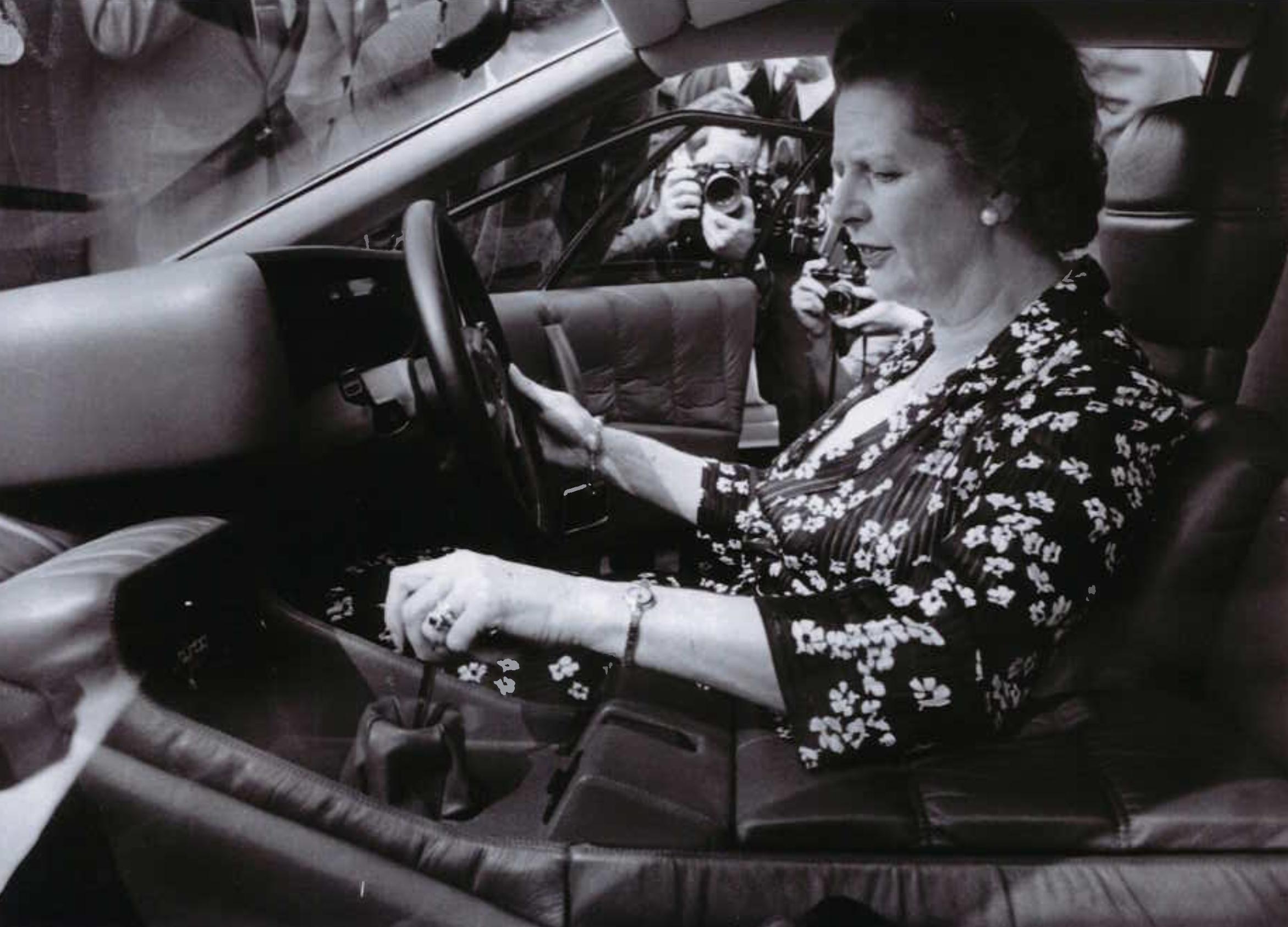 Margaret Thatcher Lotus Turbo Esprit interior