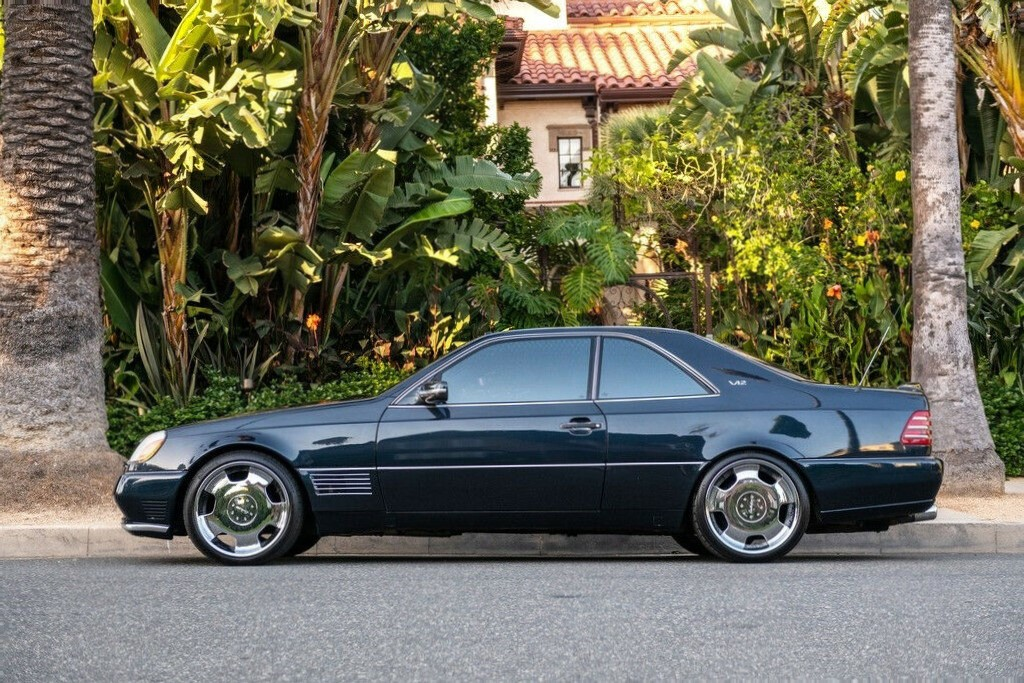 Michael Jordan - 1996 Mercedes S-Class S600 drivers side profile