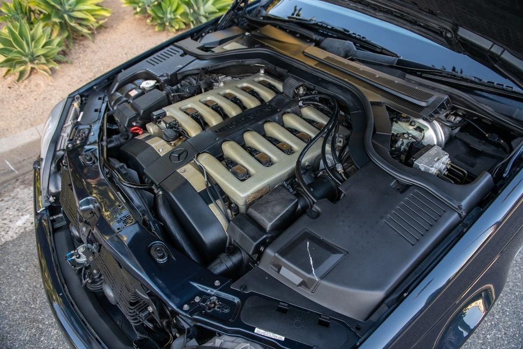 Michael Jordan - 1996 Mercedes S-Class S600 engine
