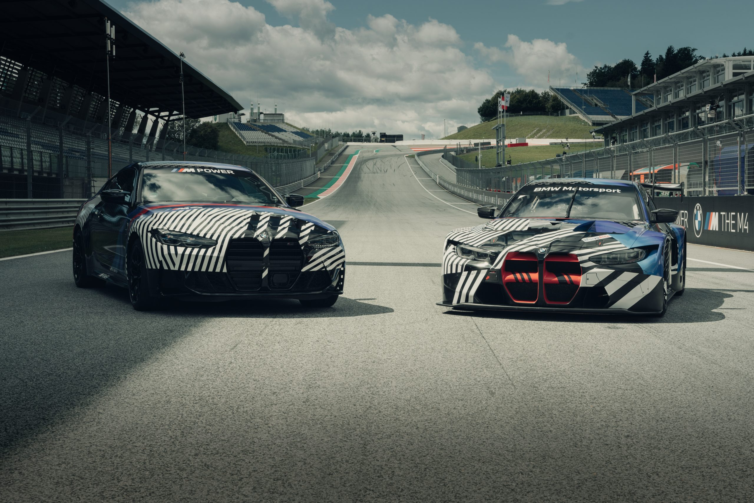BMW M4 Coupe GT3 prototypes August 2020 Red Bull Ring