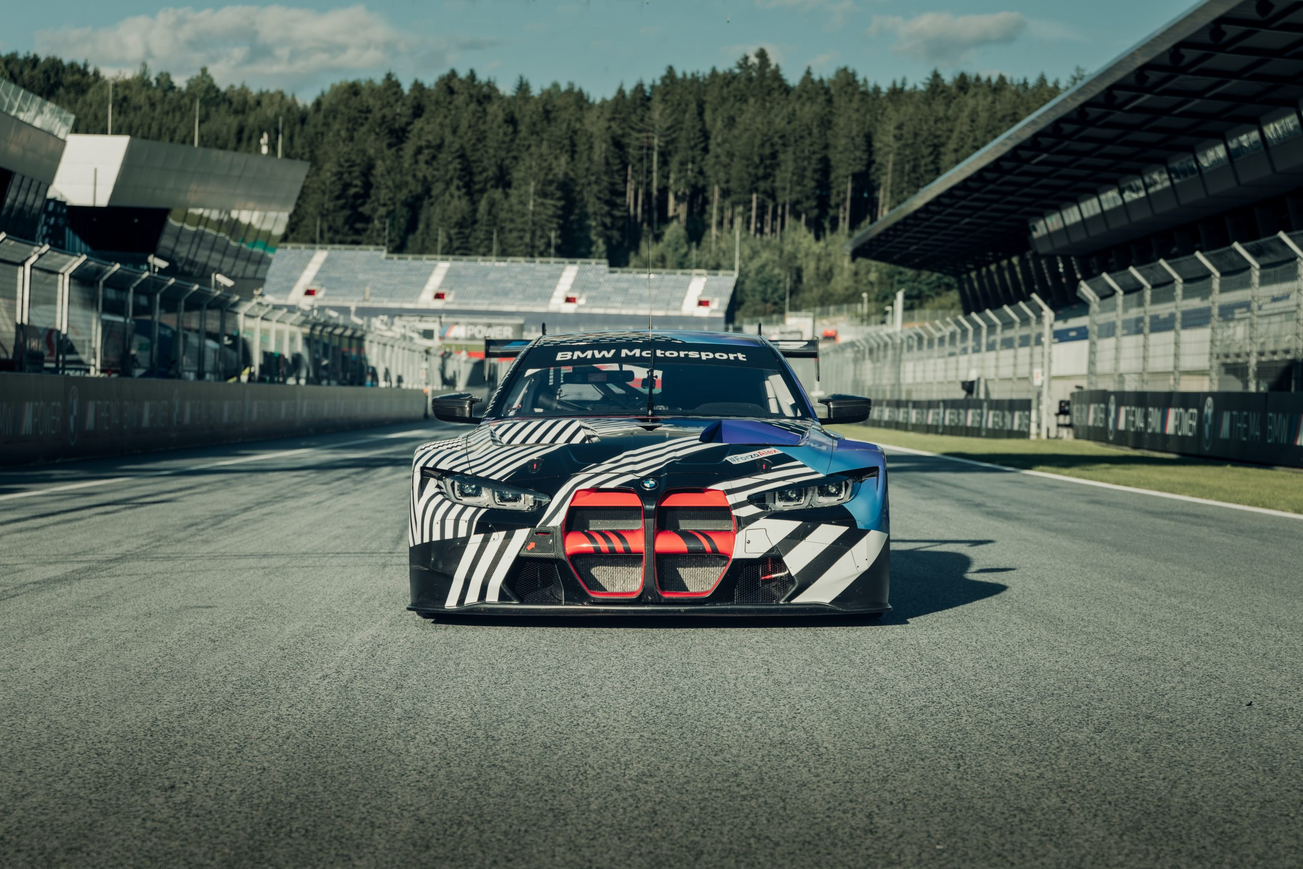 2021 BMW M4 GT3 prototype front grille Red Bull Ring August 2020