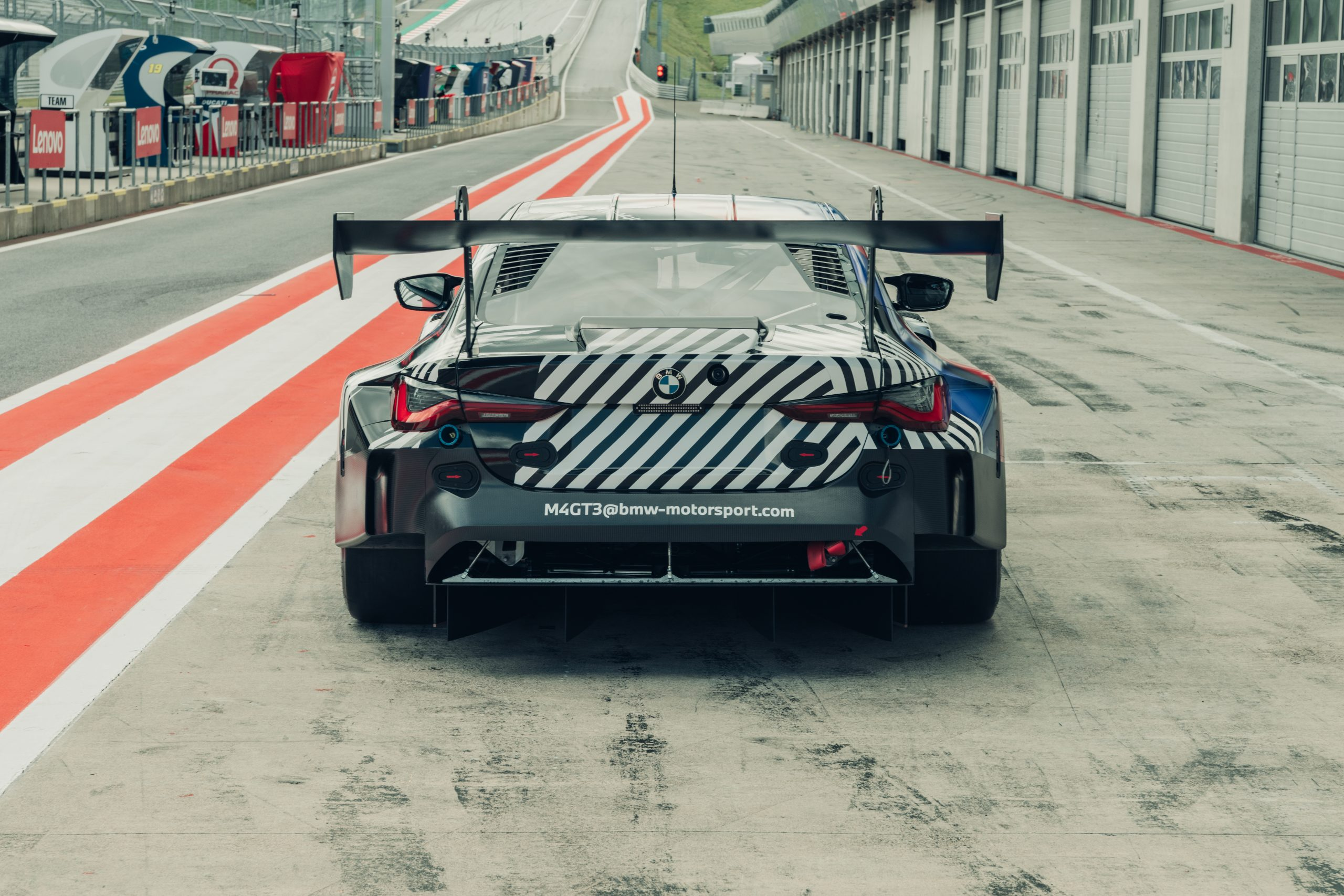 2021 BMW M4 GT3 prototype rear wing Red Bull Ring August 2020