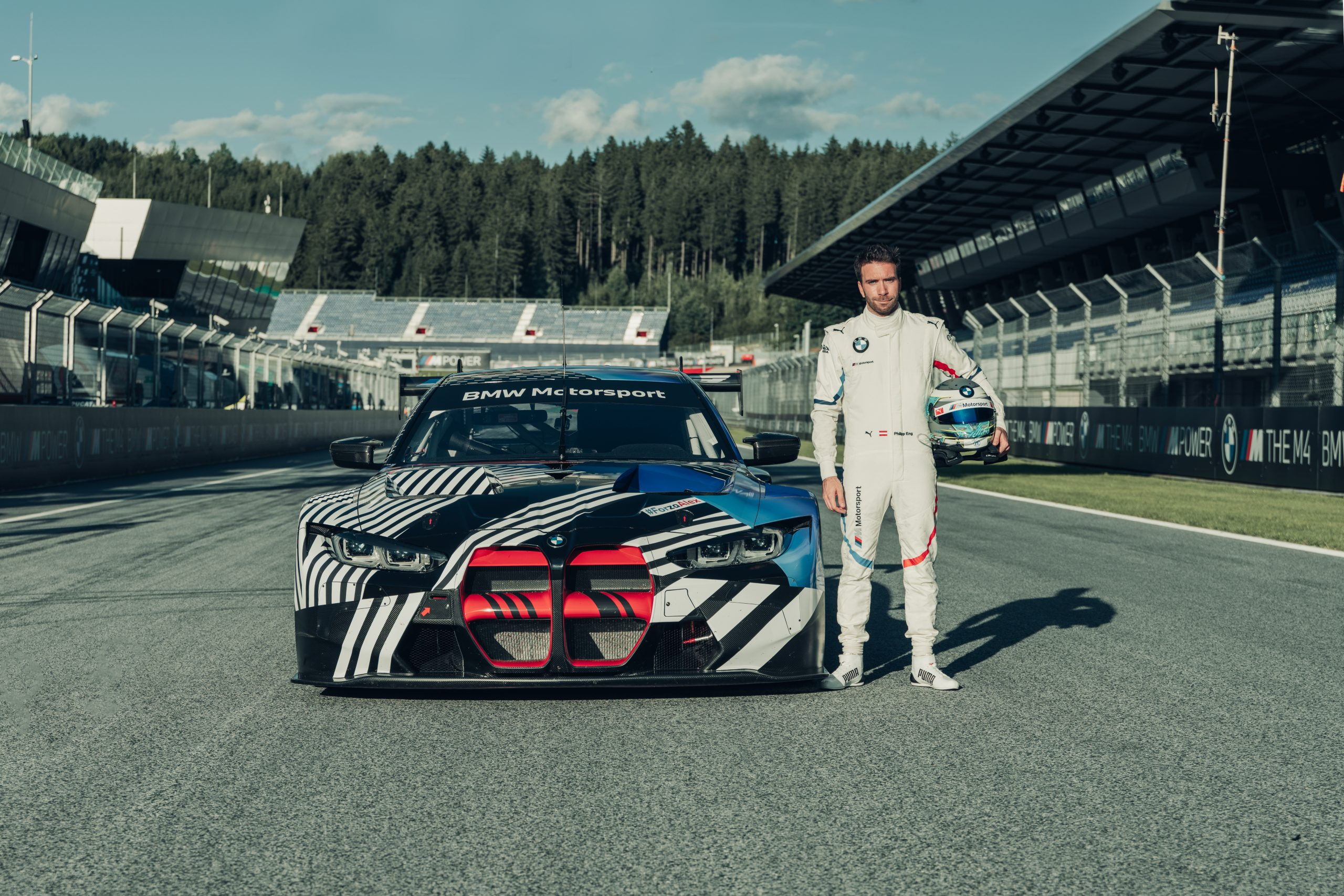 2021 BMW M4 GT3 prototype Red Bull Ring August 2020 Philipp Eng