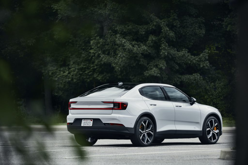 Polestar 2 rear three-quarter