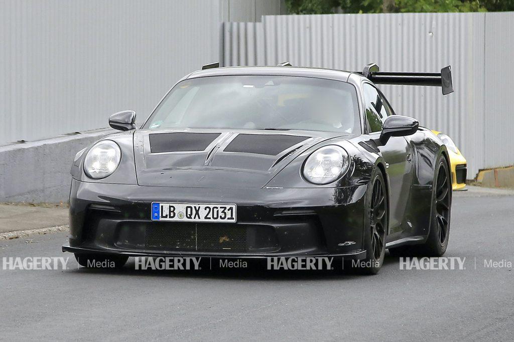 Porsche 911 GT3 RS front three-quarter test drive action