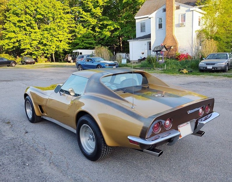 Rob Siegel - Seduced by a C3 Corvette - Gold rear drivers side view