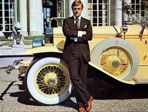 Robert Redford as Gatsby with Rolls-Royce Car