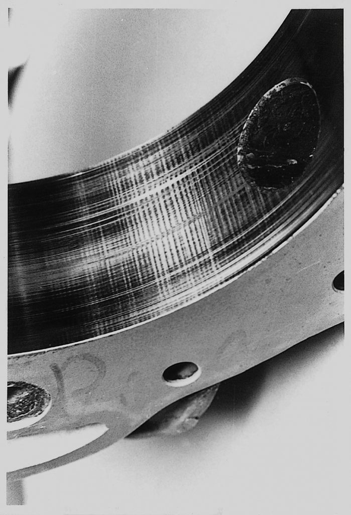 Rotary Engine Chatter Marks close up