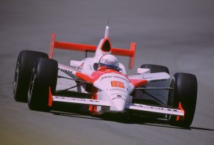 2003 Indy 500 Gil de Ferran front dynamic racing action