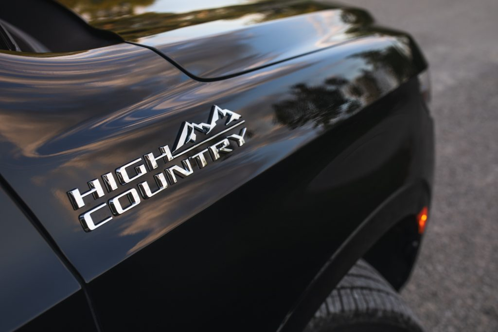 2021 Chevrolet Tahoe High Country badging