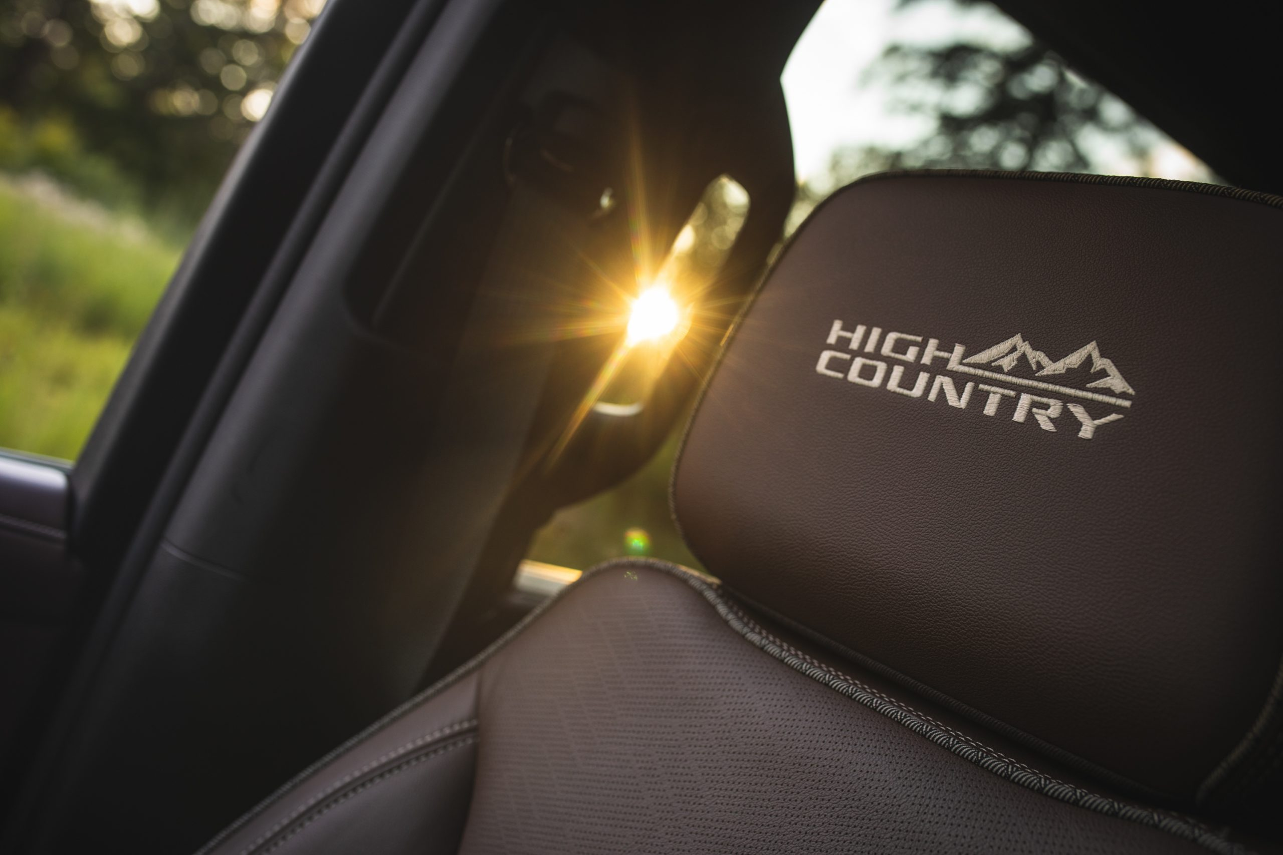 2021 Chevrolet Tahoe High Country headrest stitching