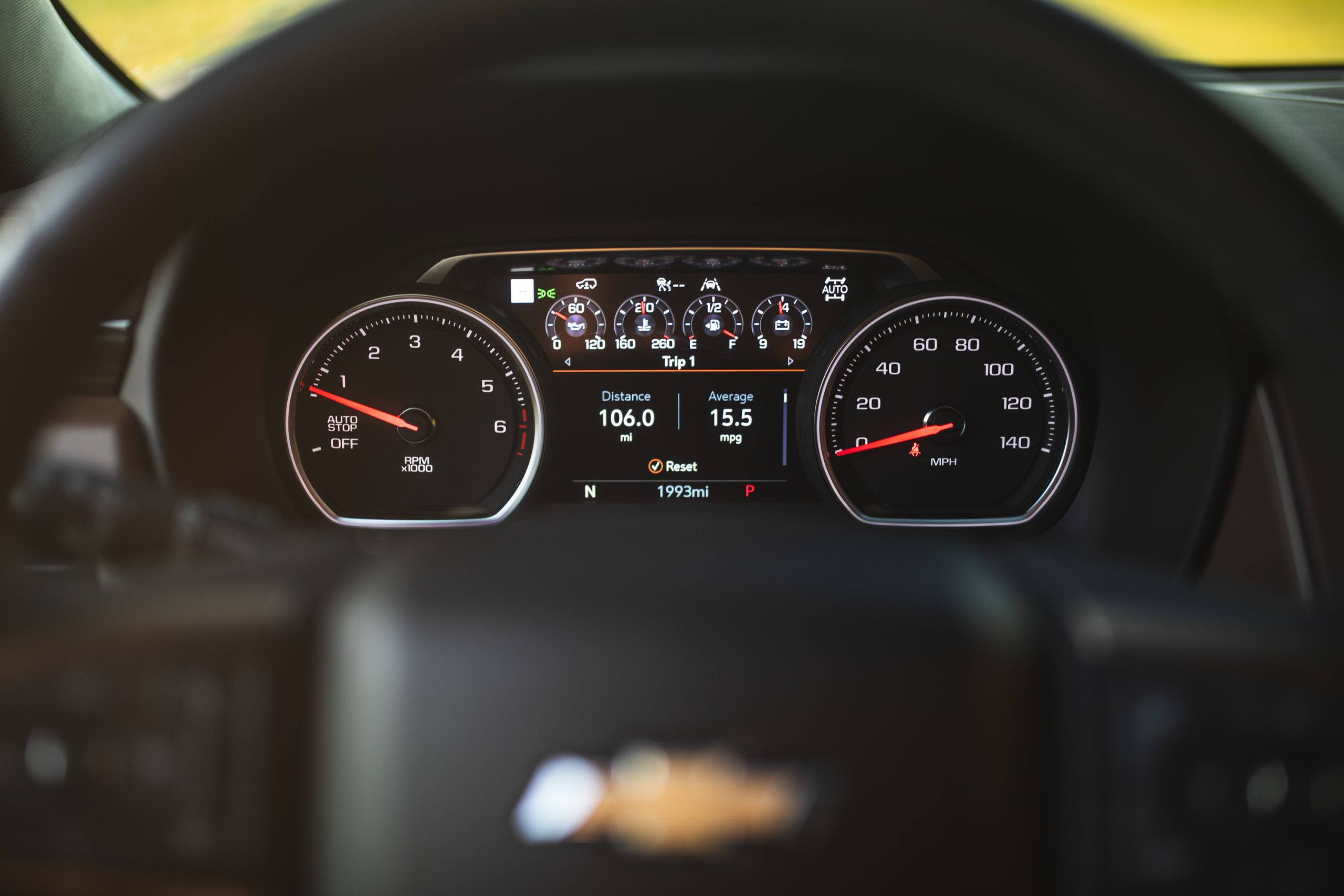 2021 Chevrolet Tahoe High Country gauges