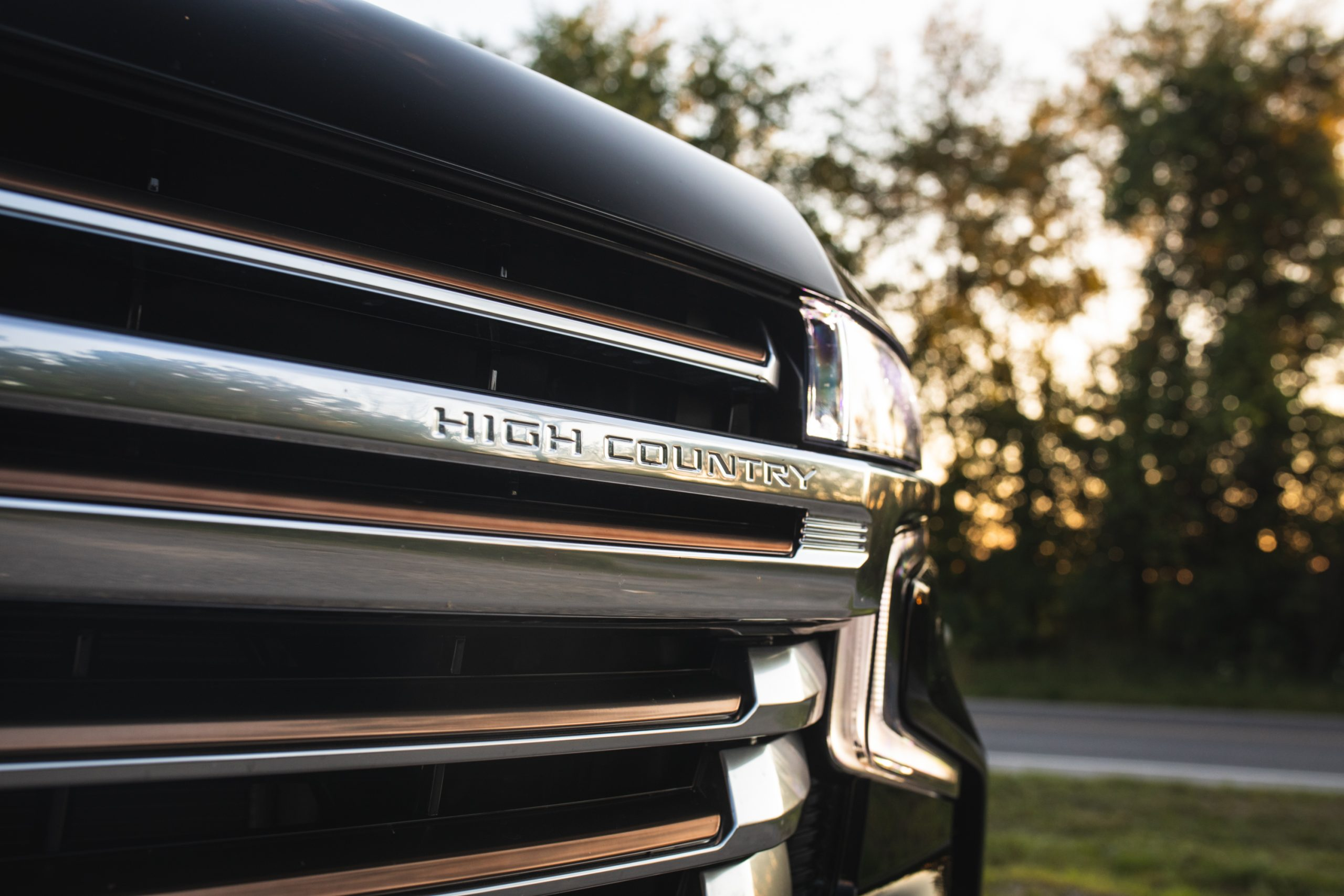 2021 Chevrolet Tahoe High Country grille close up
