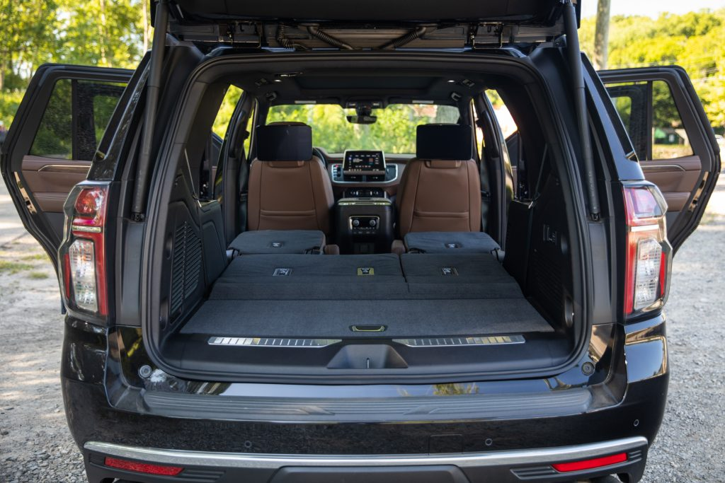 2021 Chevrolet Tahoe High Country rear cargo folded seats