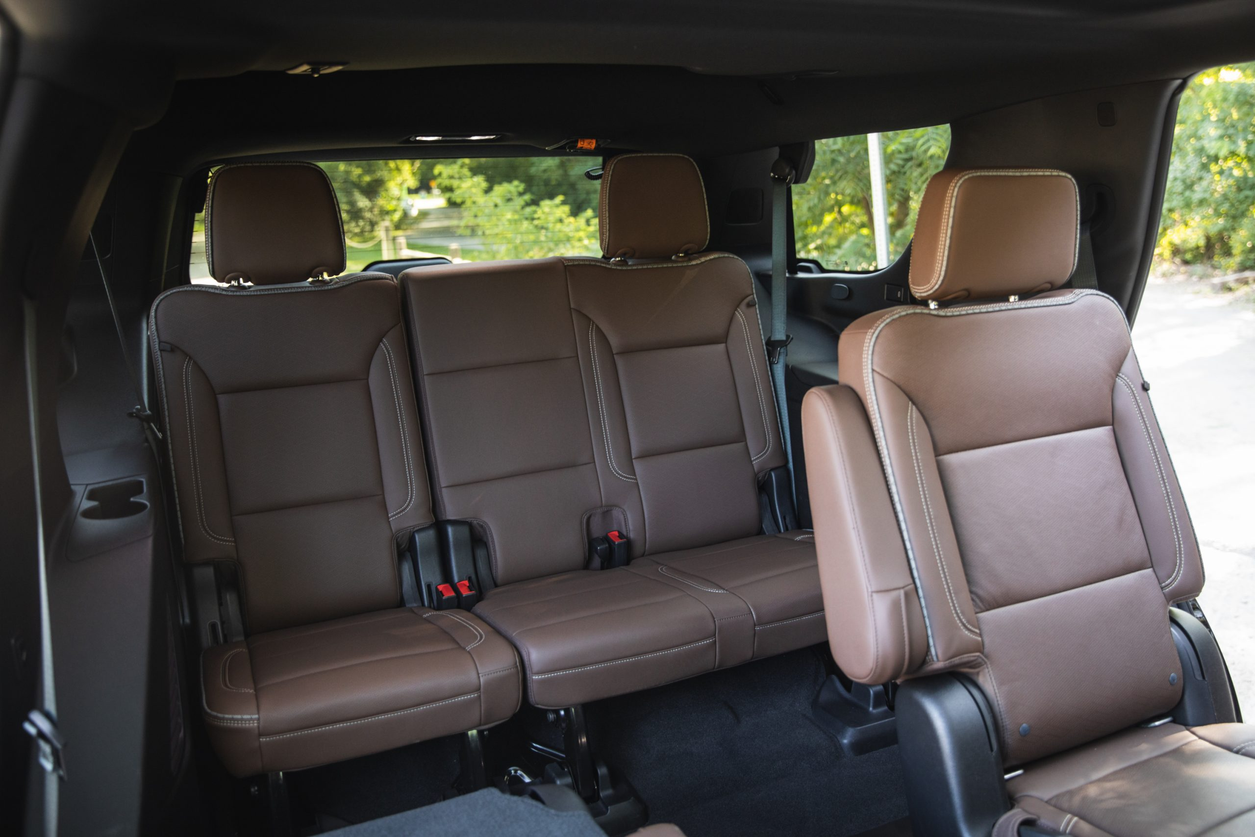 2021 Chevrolet Tahoe High Country rear leather seating