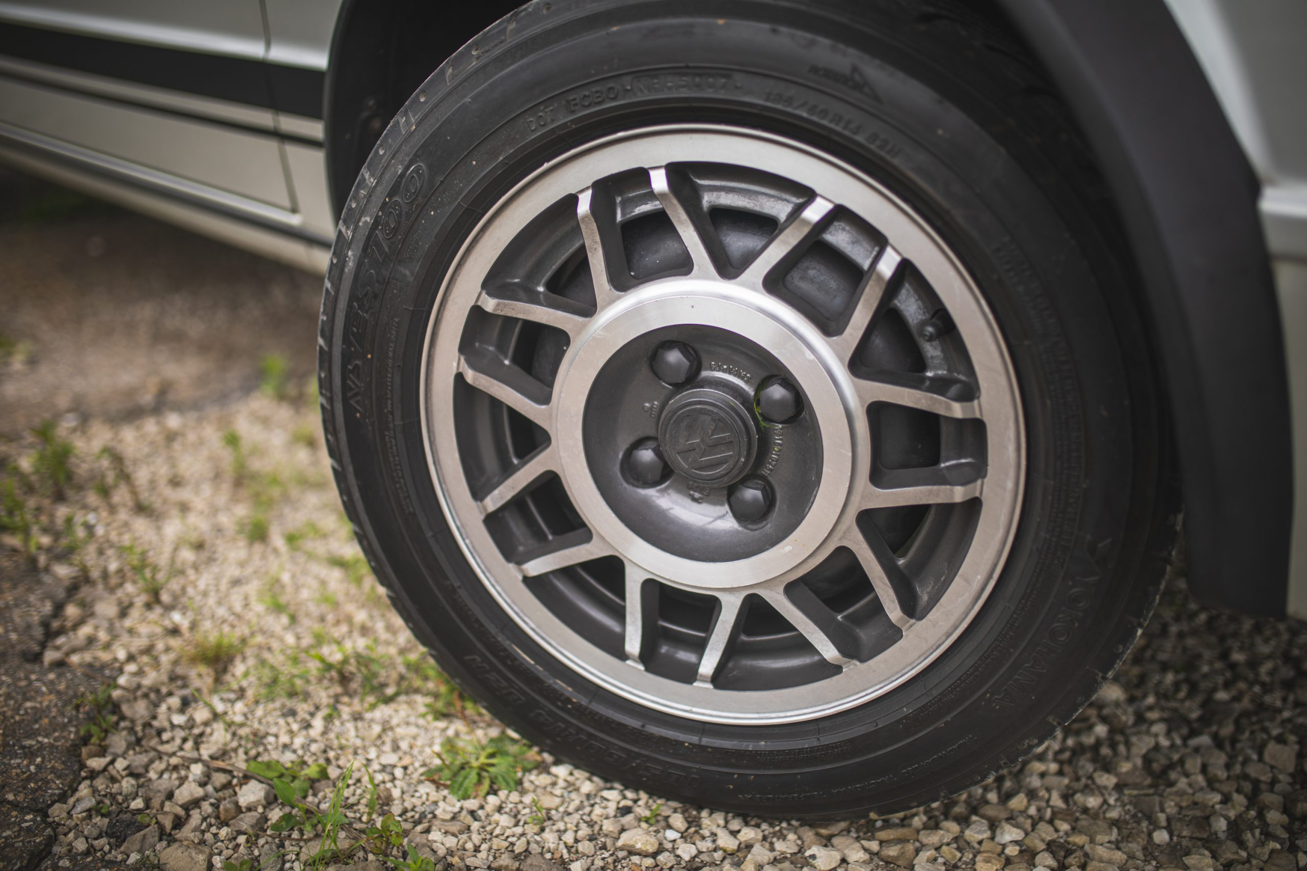 retro volkswagen rabbit gti hatchback wheel