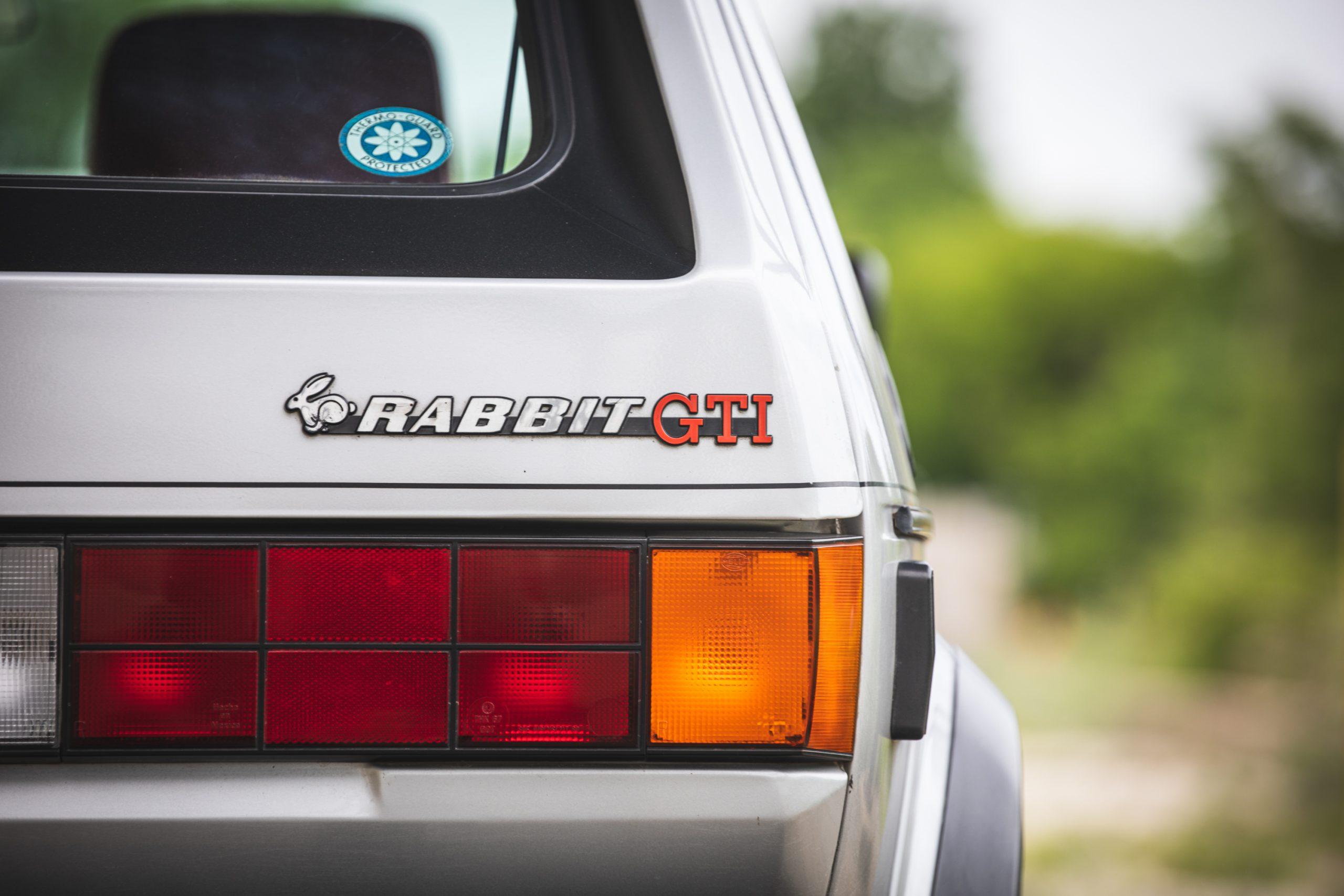 retro volkswagen rabbit gti hatchback rear badging