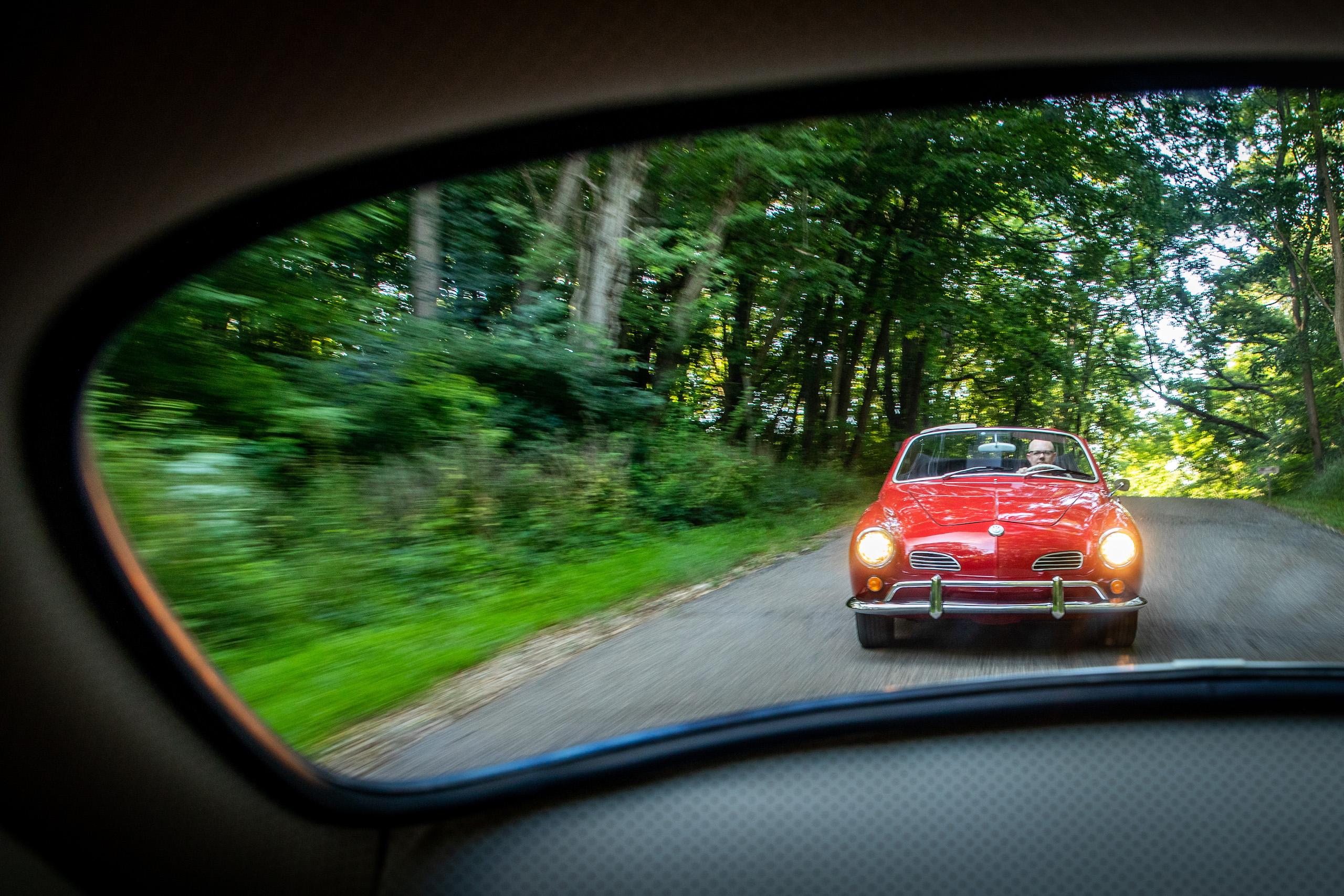 volkswagen karmann ghia front driving action