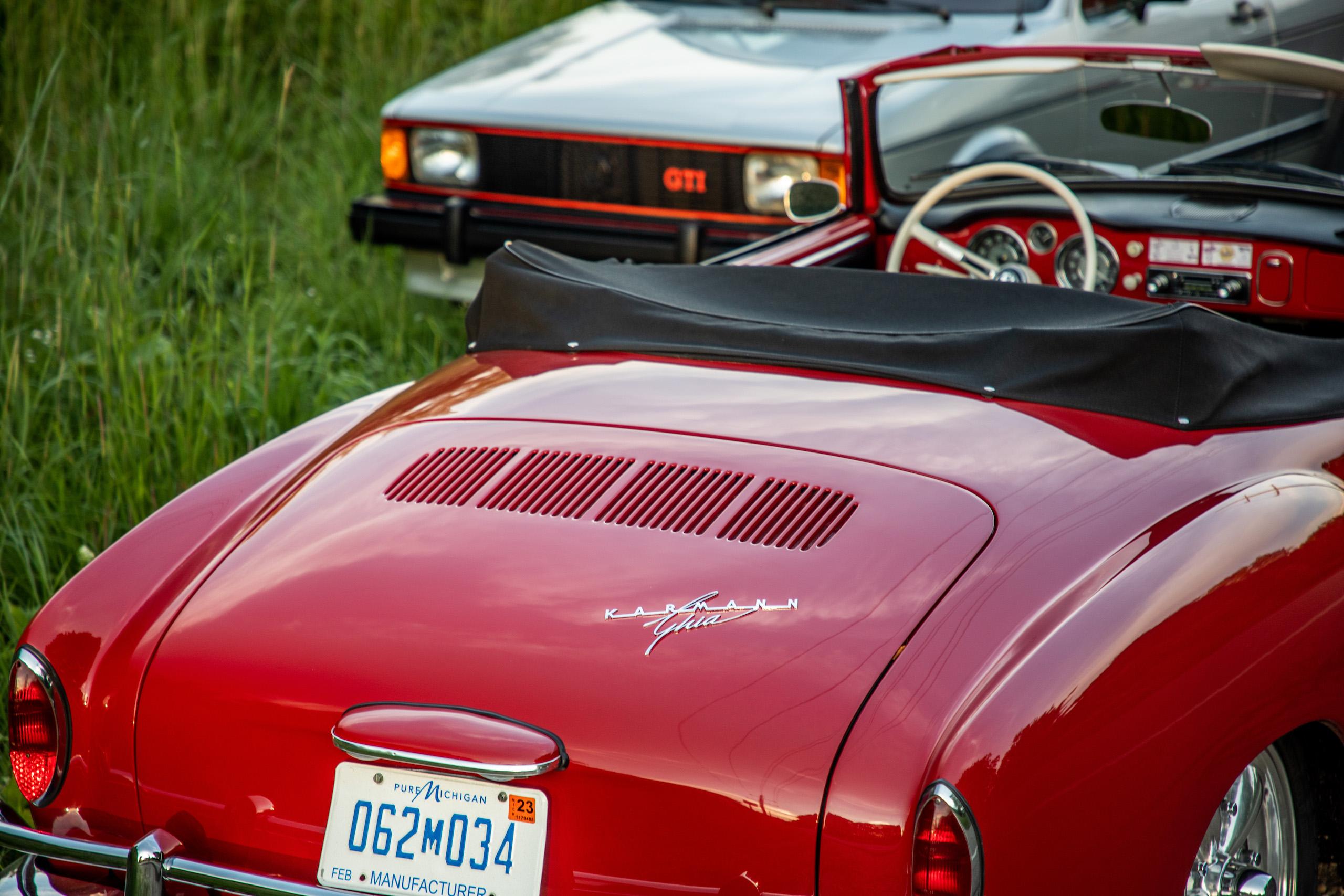classic volkswagen cars rabbit front karmann ghia rear