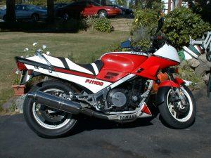 1984 Yamaha FJ1100 motorcycle side profile
