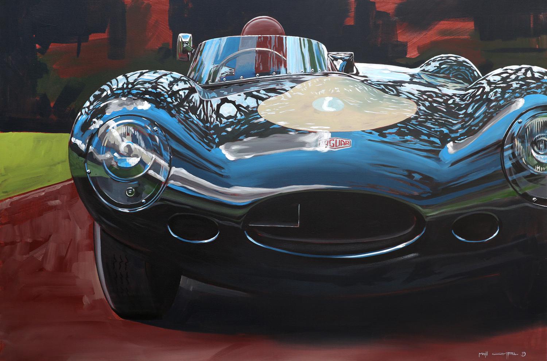 retro jaguar e-type front vintage motorsports scene