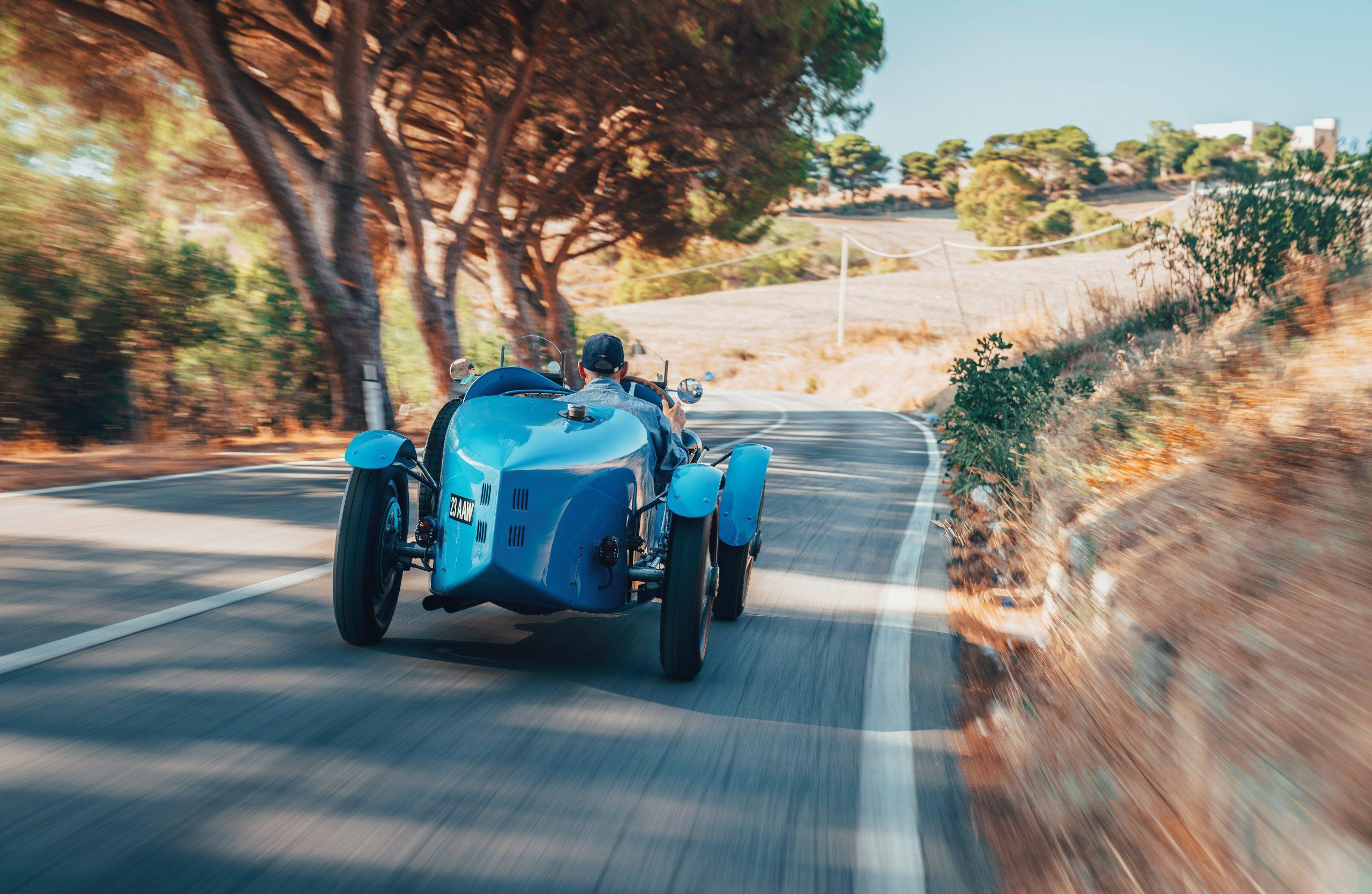 Targa Florio Bugatti Type 35 race car prewar vintage