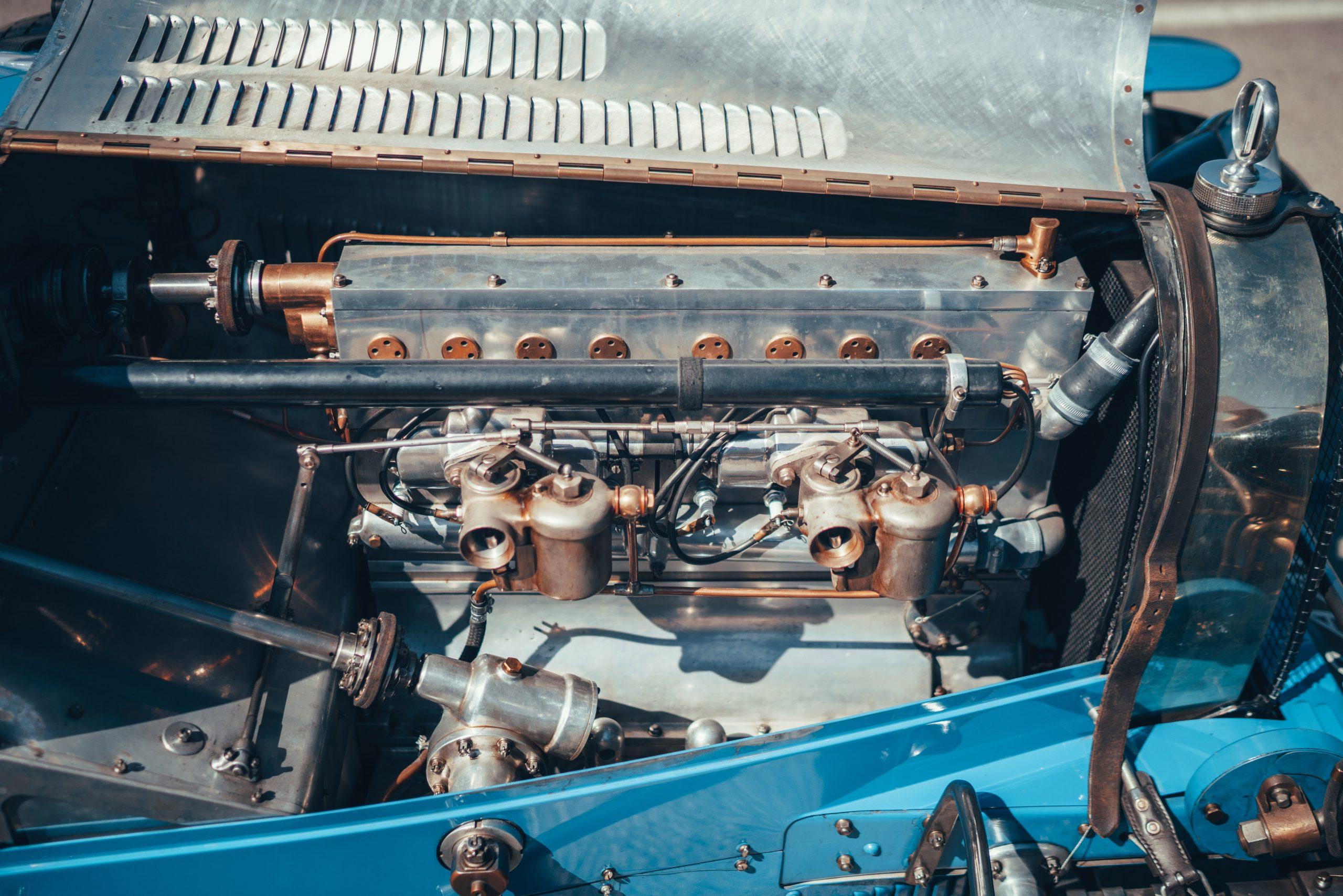 Targa Florio Bugatti Type 35 race car prewar vintage motorsports engine