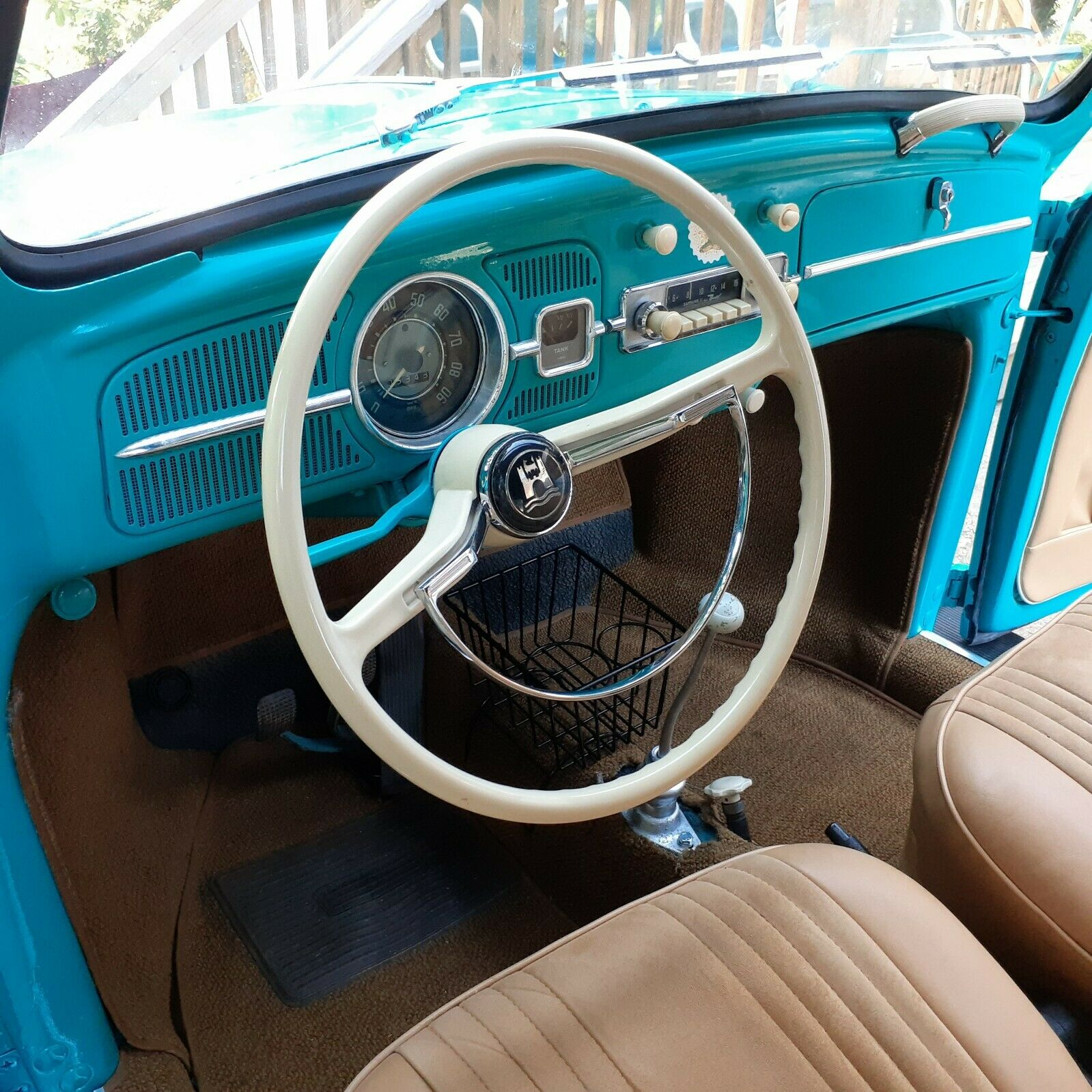 1962 Volkswagen Beetle sedan interior