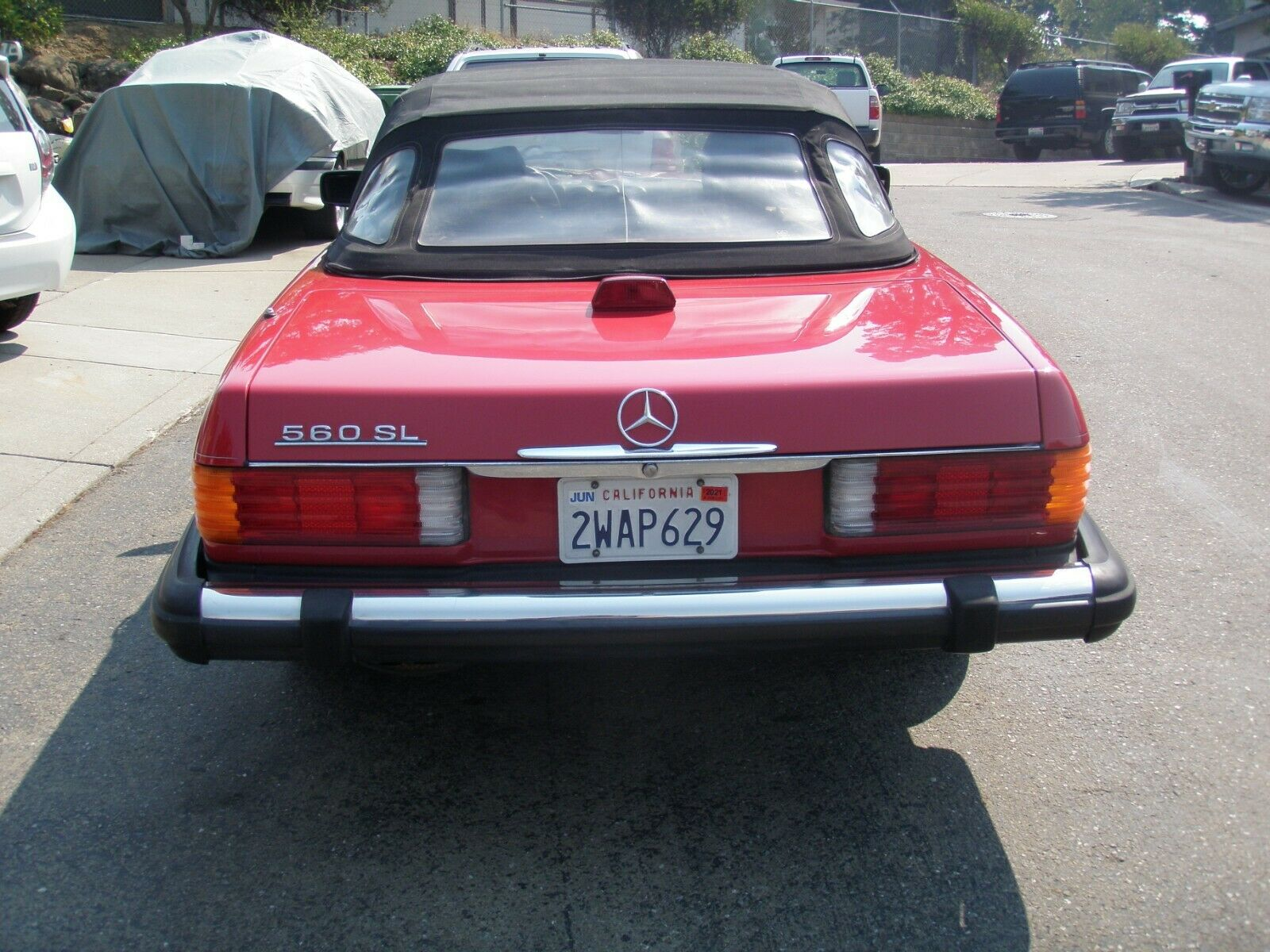 1986 Mercedes-Benz 560SL soft top rear